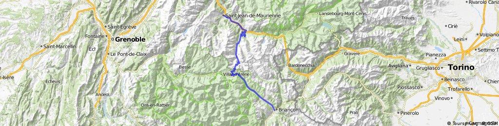 Percorso 2015 4° tappa: Saint Jean de Maurienne - Briancon
