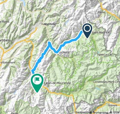 Percorso 2015 2° tappa: Seez - Saint Jean de Maurienne