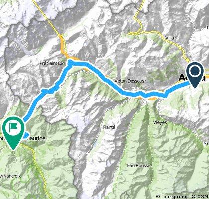 Percorso 2015 1° tappa: Aosta - Seez