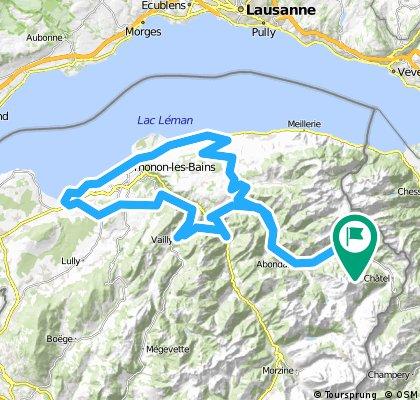 Alpentour '98/Etappe 3: LaChapelle - Vinzier - Evian - Thonon - Armoy - LaChapelle