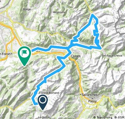 Alpentour 2000/LaClusaz - Etappe 3: Colombière, Chatillon (2x), Joux Plane, Gets