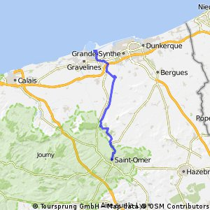 Dunkirk to Saint-Omer