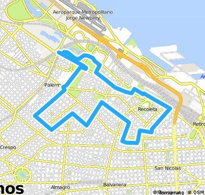 buenos aires 15 km western loop bike lanes JBP
