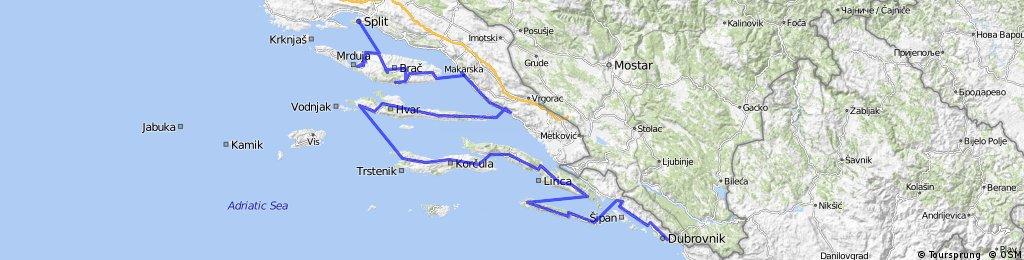Dalmatien Tour