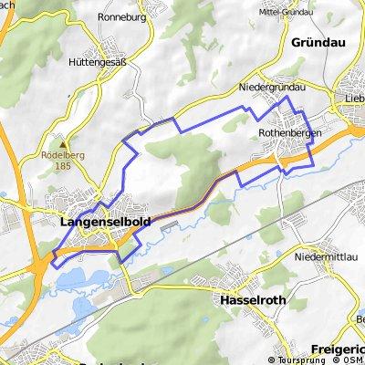 Rothenbergen Langenselbold kleinste Rundtour