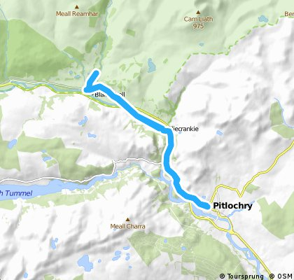 Pitlochry to Blair Castle out and back NCR 7
