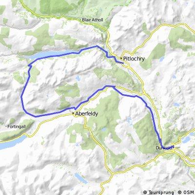 Dunkeld to Pitlochry via Loch Tummel