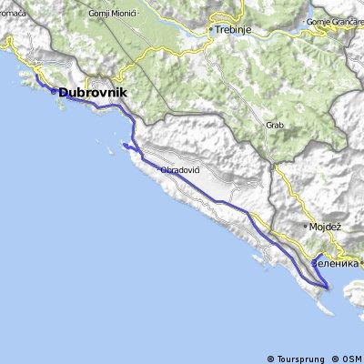 Ciclovacanza 2016 /1c Dubrovnik - Herceg Novi