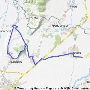 Stupini-Harman-creasta Dealul Lempes-Sanpetru-Bod-Harman-Prejmer
