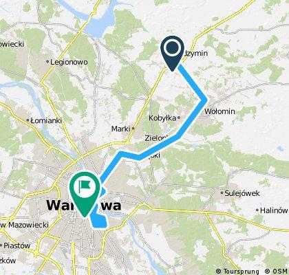 73,1 Radzymin - Warszawa 135 km