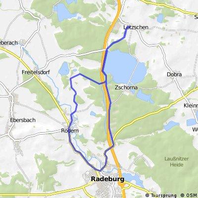 Lötzschen - Rödern - Radeburg - Lötzschen