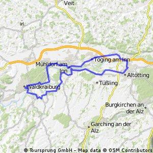 Altötting - Waldkraiburg - Altötting
