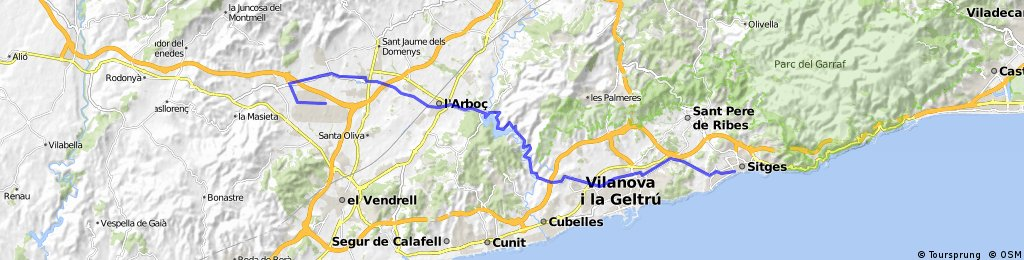 Sitges to Idiada 37km