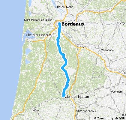 bordeaux-mont de marsan