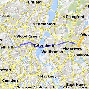 South Woodford to Hornsey