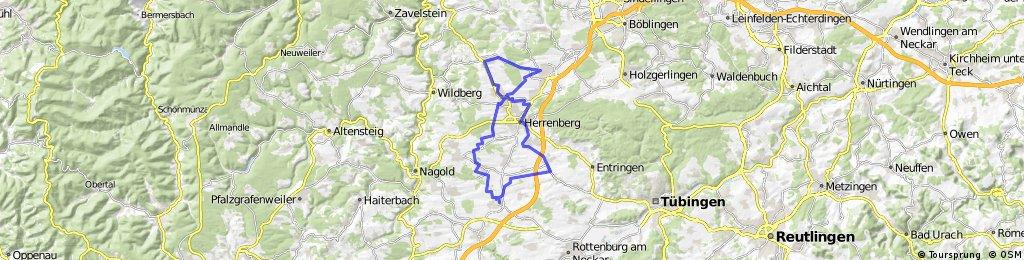 Neuer Radweg zwischen Haslach und Sindlingen 53 km