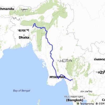 Thailand Myanmar India Bangladesh