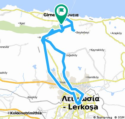 Auto - Girne - St Hilarion - Lefkosa - Bellapais