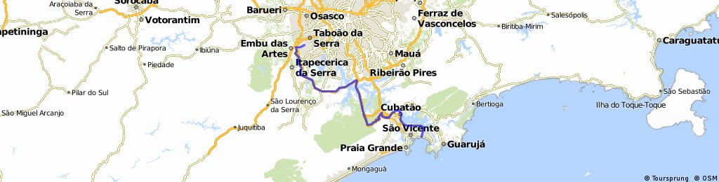 Rota Marcia Prado -  Taboão da Serra à Santos