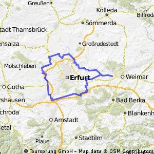 Rund um Erfurt mit dem MTB