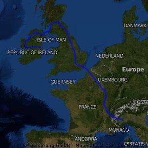 2016 Asti - Calais - Londra - Edimburgo - Glasgow - Belfast - Londonderry - Galway - Dublino km 2986