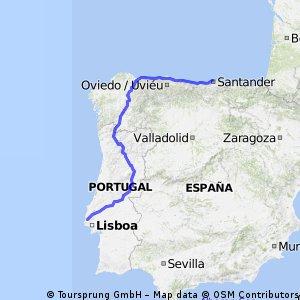 Santander to Lisbon - Portuguese mountain route