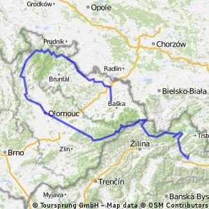 Bicyklovačka 2015 - 527 km/ 4350hm