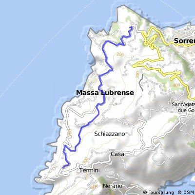 Wanderung entlang der Amalfiküste
