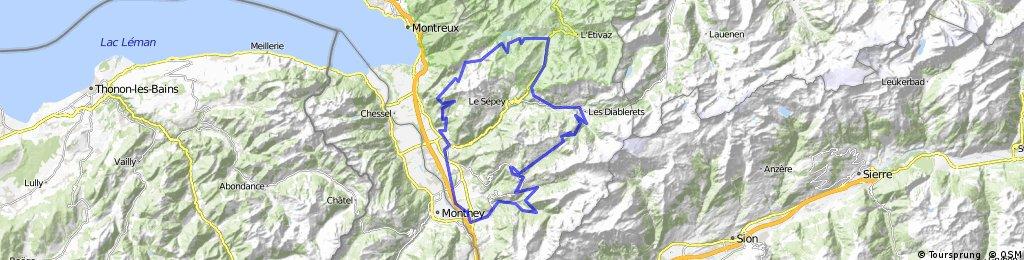Villars - Les Mosses - Les Agites - Bex - Les Plans-sur-Bex - Villars