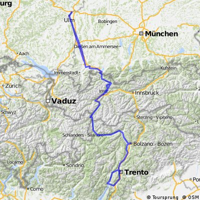 Via Alpina Thalfingen-Garmisch-Gardasee 2016