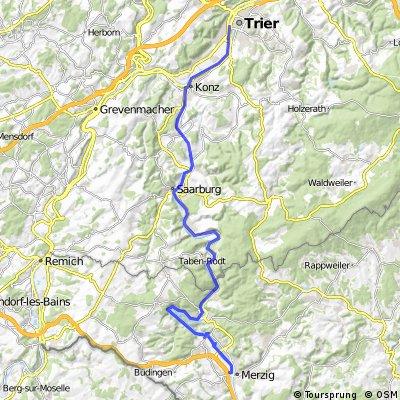 Saar-Elsass-Tour Tag 1