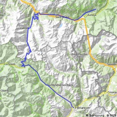 4a Etappe: Roue des Grandes Alpes