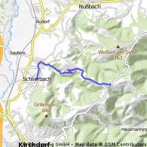 Oberschlierbach - Schlierbach (Ortszentren, Umgehung von Hauptverkehrsstraßen)