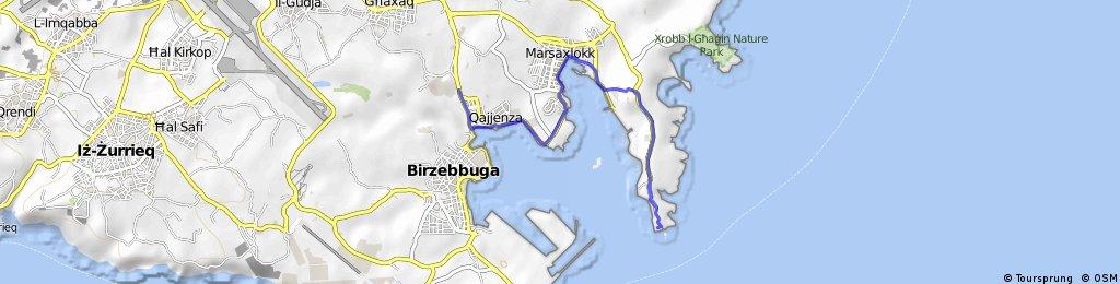 Overhills Malta to Delimara 6.5km