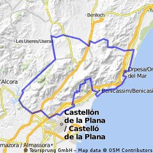 Benicàssim - Cabanes - Moró - Desierto - Benicàssim
