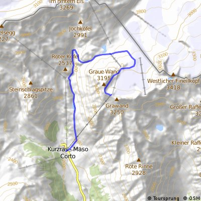 Pistenaufstieg auf die Grawand - Schnalser Gletscher