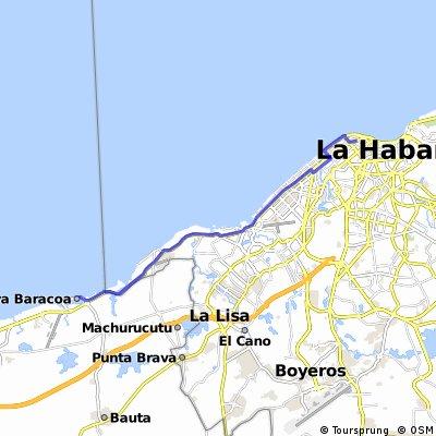Playa Baracoa 23 km