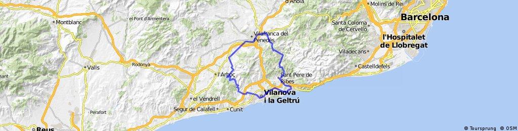 Ruta Sitges Pantà de Foix Sitges