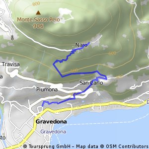 Santa Croce - Gravedona (via mulattiera per Segna)