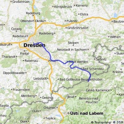 Fietsen van Praag naar Dresden etappe 5 linkeroever
