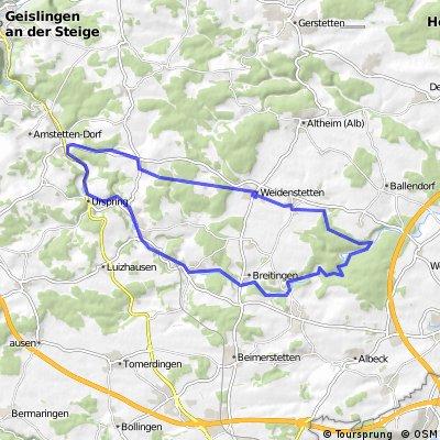 Amstetten - Lonetal - Eschental und zurück