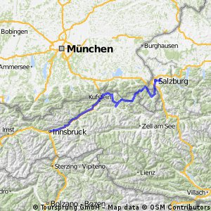 Girolibero: Ciclabili dei fiumi Inn e Salzach / Da Innsbruck a Salisburgo