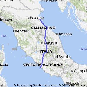 Ravenna- Ostia Adriatico Tirreno
