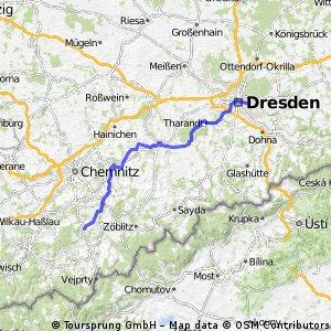 Dresden --> Ehrenfriedersdorf