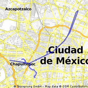 Benito Juarez Mexico Map.Cycling Routes And Bike Maps In And Around Benito Juarez Bikemap