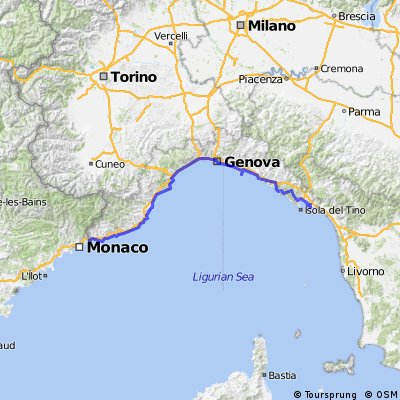 Cycling the coast of Liguria