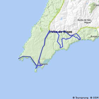 Vila do Bispo-Sagres N1/60km
