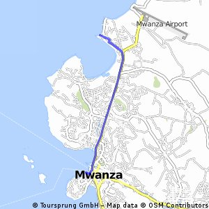 Cycling routes and bike maps in and around Mwanza Bikemap Your