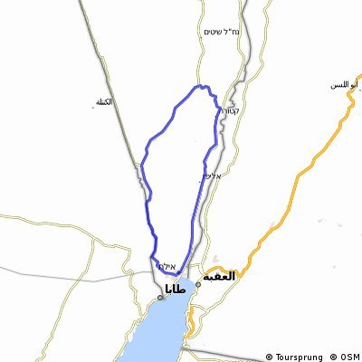 Cycling routes and bike maps in and around Eilat   Bikemap - Your ...