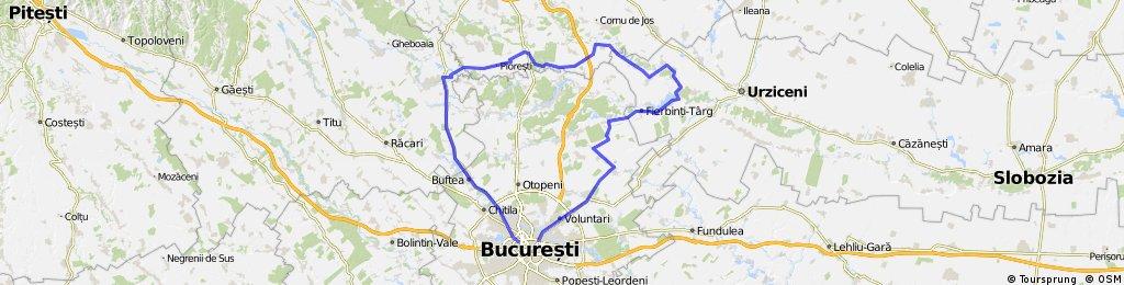 Bucuresti - Buftea - Catunu - Potigrafu - Balta Doamnei - Fierbinti-Targ - Afumati - Bucuresti